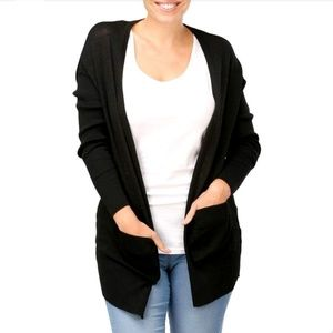 Exclusively Misook Front Pocket Open Cardigan